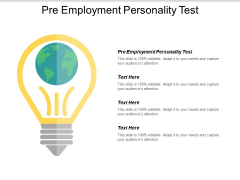 Pre Employment Personality Test Ppt PowerPoint Presentation Infographics Design Inspiration