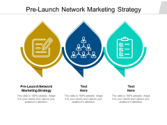 Pre Launch Network Marketing Strategy Ppt PowerPoint Presentation Slides Visuals Cpb Pdf