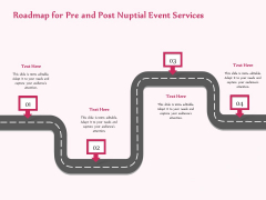 Pre Postnuptial Roadmap For Pre And Post Nuptial Event Services Ppt Pictures Guidelines PDF