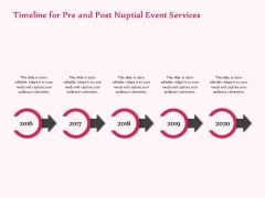 Pre Postnuptial Timeline For Pre And Post Nuptial Event Services Ppt Infographic Template Ideas PDF