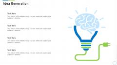 Pre Seed Funding Deck Idea Generation Brochure PDF