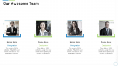 Pre Seed Funding Deck Our Awesome Team Brochure PDF