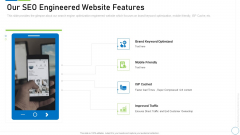 Pre Seed Funding Deck Our Seo Engineered Website Features Portrait PDF