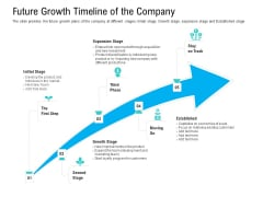 Pre Seed Funding Pitch Deck Future Growth Timeline Of The Company Ppt Professional Icons PDF