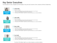 Pre Seed Funding Pitch Deck Key Senior Executives Themes PDF