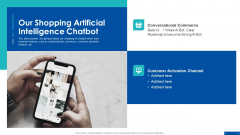 Pre Series A New Venture Financing Pitch Deck Our Shopping Artificial Intelligence Chatbot Themes PDF