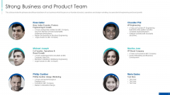 Pre Series A New Venture Financing Pitch Deck Strong Business And Product Team Formats PDF