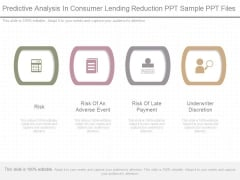 Predictive Analysis In Consumer Lending Reduction Ppt Sample Ppt Files