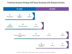 Predictive Analysis Strategy Half Yearly Roadmap With Multiple Activities Diagrams