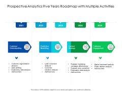 Predictive Analytics Five Years Roadmap With Multiple Activities Ideas