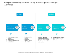 Predictive Analytics Half Yearly Roadmap With Multiple Activities Formats