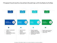 Predictive Analytics Quarterly Roadmap With Multiple Activities Ideas