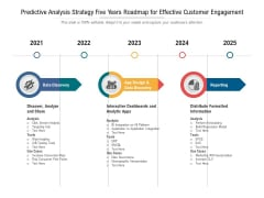 Predictive Analytics Strategy Five Years Roadmap For Business Success Summary