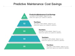 Predictive Maintenance Cost Savings Ppt PowerPoint Presentation Layouts Professional Cpb