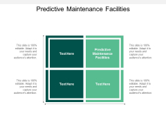 Predictive Maintenance Facilities Ppt PowerPoint Presentation Icon Background Image Cpb