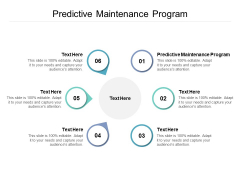 Predictive Maintenance Program Ppt PowerPoint Presentation Icon Layouts Cpb