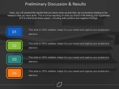 Preliminary Discussion And Results Ppt PowerPoint Presentation Gallery Samples