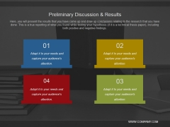 Preliminary Discussion And Results Ppt PowerPoint Presentation Portfolio Slides