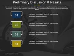 Preliminary Discussion And Results Ppt PowerPoint Presentation Show Layout Ideas