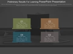 Preliminary Results For Learning Powerpoint Presentation
