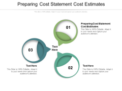 Preparing Cost Statement Cost Estimates Ppt PowerPoint Presentation Summary Background Cpb Pdf
