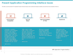 Present Application Programming Interface Issues Ppt Inspiration PDF