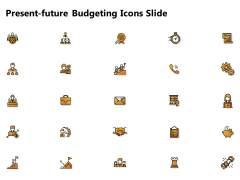 Present Future Budgeting Icons Slide Ppt PowerPoint Presentation Inspiration Layout PDF
