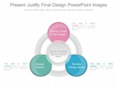 Present Justify Final Design Powerpoint Images