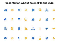 Presentation About Yourself Icons Slide Winner Ppt Powerpoint Presentation Inspiration Graphics Tutorials