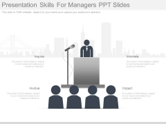 Presentation Skills For Managers Ppt Slides