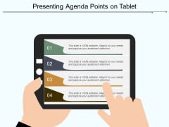 Presenting Agenda Points On Tablet Ppt PowerPoint Presentation Gallery Icons