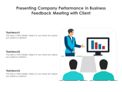 Presenting Company Performance In Business Feedback Meeting With Client Ppt PowerPoint Presentation File Model PDF