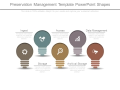 Preservation Management Template Powerpoint Shapes