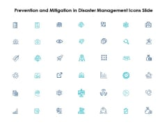 Prevention And Mitigation In Disaster Management Icons Slide Ppt PowerPoint Presentation Model Styles