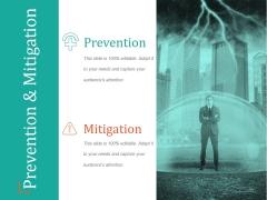 Prevention And Mitigation Ppt PowerPoint Presentation Design Ideas
