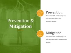 Prevention And Mitigation Ppt PowerPoint Presentation Introduction