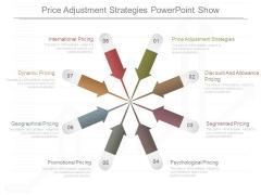 Price Adjustment Strategies Powerpoint Show