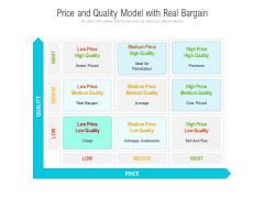 Price And Quality Model With Real Bargain Ppt PowerPoint Presentation File Themes PDF