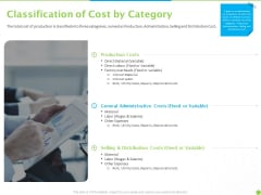 Price Architecture Classification Of Cost By Category Ppt PowerPoint Presentation Icon Picture PDF