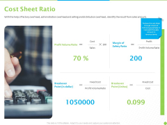Price Architecture Cost Sheet Ratio Ppt PowerPoint Presentation Portfolio Display PDF