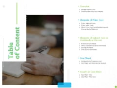 Price Architecture Table Of Content Ppt PowerPoint Presentation Slides Ideas PDF