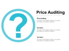 Price Auditing Ppt Powerpoint Presentation Show Demonstration Cpb