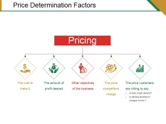 Price Determination Factors Ppt PowerPoint Presentation File Graphics Example