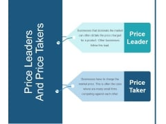 Price Leaders And Price Takers Ppt PowerPoint Presentation Guidelines