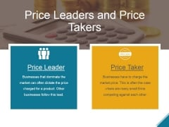 Price Leaders And Price Takers Ppt PowerPoint Presentation Layout