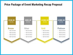 Price Package Of Event Marketing Recap Proposal Ppt Inspiration Ideas PDF