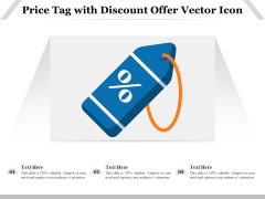Price Tag With Discount Offer Vector Icon Ppt PowerPoint Presentation Icon Deck PDF