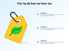 Price Tag With Green Leaf Vector Icon Ppt PowerPoint Presentation File Summary PDF