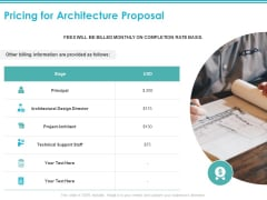 Pricing For Architecture Proposal Ppt PowerPoint Presentation Layouts Information