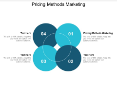 Pricing Methods Marketing Ppt PowerPoint Presentation Outline Good Cpb